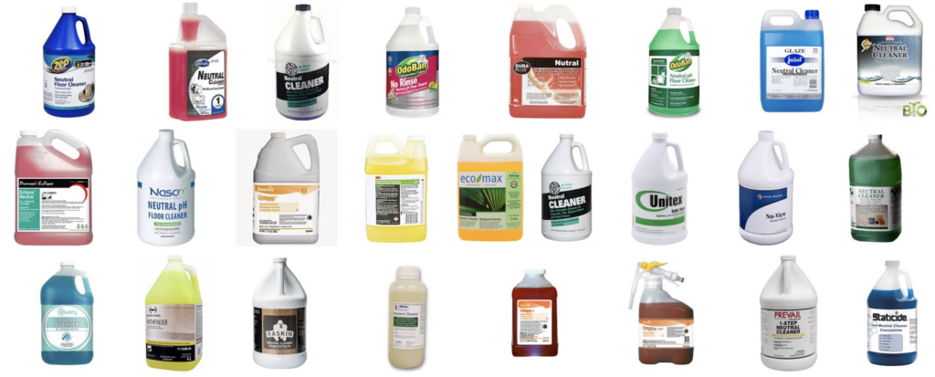 Different types of cleaning agents and their uses